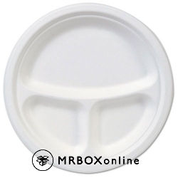 Dixie EcoSmart Molded Fiber 3 Compartment Plate