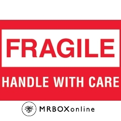 2x3 Mini Fragile Handle With Care Labels