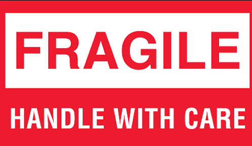 3x5 Fragile Handle With Care
