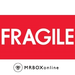 3x5 Fragile Red