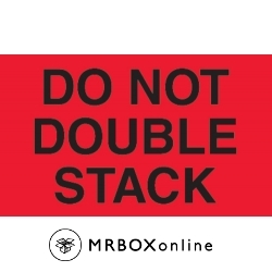 3x5 Do Not Double Stack Red Fluorescent