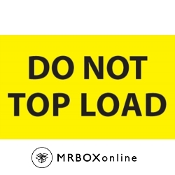3x5 Do Not Top Load Yellow Flourescent