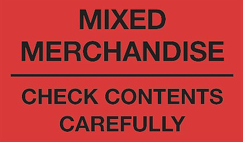 3x5 Mixed Merchandise Labels