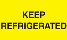 3x5 Keep Refrigerated Yellow Fluorescent