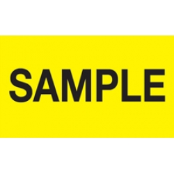 3x5 Sample Labels Yellow Fluorescent