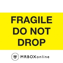 3x5 Fragile Do Not Drop Yellow