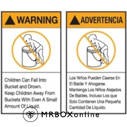 5x6 Warning Advertencia