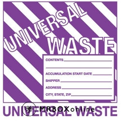 6x6 Universal Waste Labels