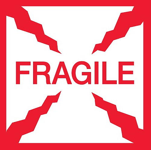 2x2 Mini FRAGILE Labels