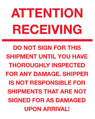 8x10 Attention Receiving Do Not Sign