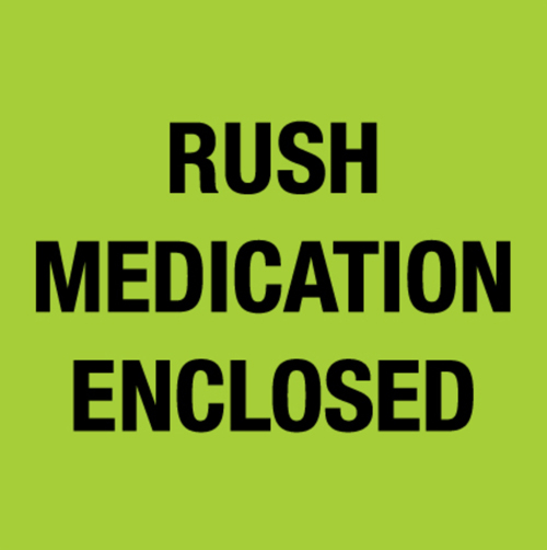 4x4 Rush Medication Enclosed Green Fluorescent