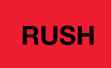 "3""x5\"" Rush Red Fluorescent"