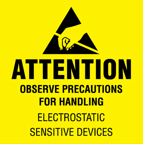 2x2 Attention Observe Precautions Labels