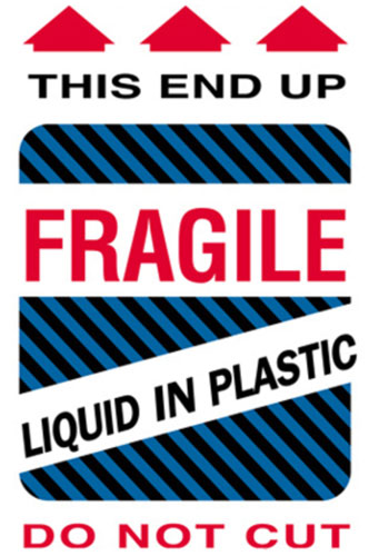 4x6 Fragile Liquid in Plastic