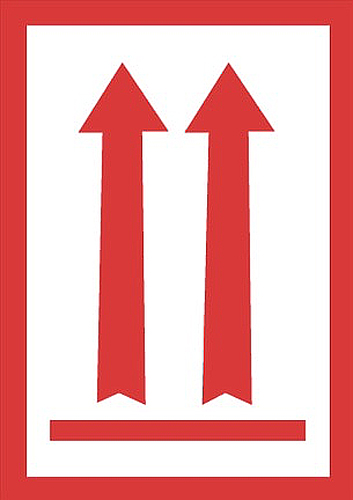 3x5 Two Red Arrow Over Red Bar