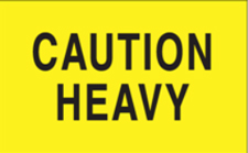 3x5 Caution Heavy Yellow Fluorescent