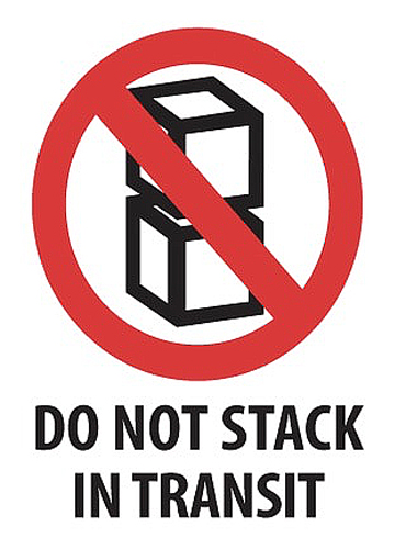 3x4 Do Not Stack in Transit