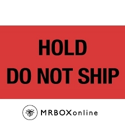 3x5 Hold Do Not Ship Labels