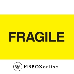 3x5 Fragile Yellow Fluorescent