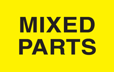 "4""x4\"" Mixed Parts Labels Fluorescent Yellow"
