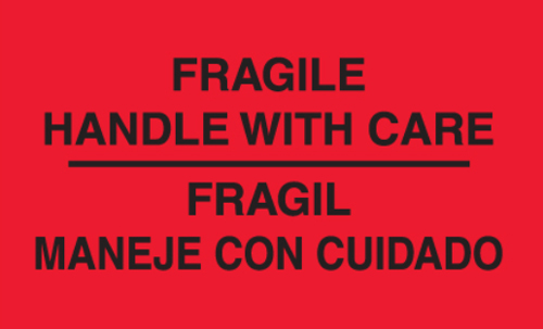 3x5 Fragil-Maneje Con Cuidado Label