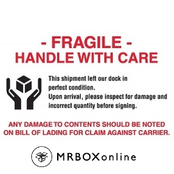 4x6 Fragile Handle With Care Damage Labels