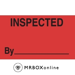 3x5 Inspected By Labels