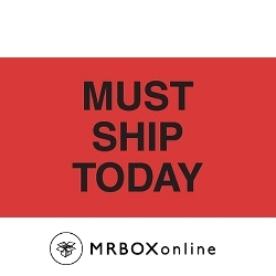 3x5 Must Ship Today Labels