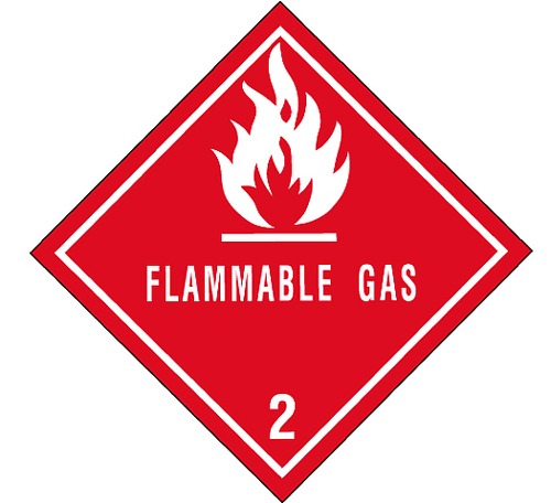Flammable Gas Labels 4x4