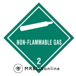 4x4 Non Flammable Gas Labels
