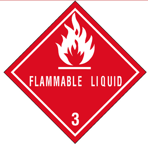 Flammable Liquid Labels 4x4