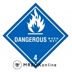 Dangerous When Wet Labels 4x4