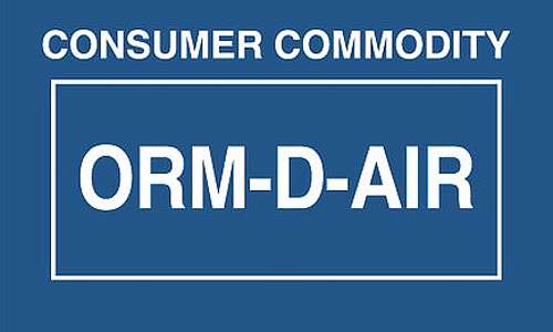 ORM D Air Consumer Commodity Label