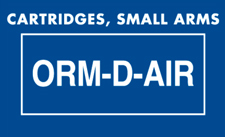ORM D Cartridges Small Arms Label