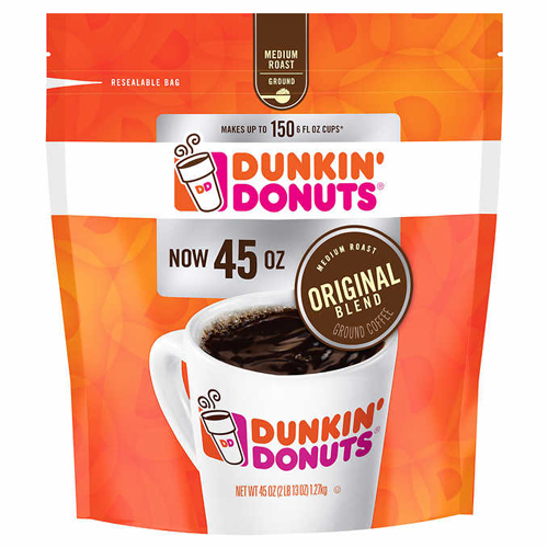 Dunkin Donuts Ground Coffee 45 ounce