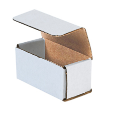 17.5x3.5x3.5 White Die Cut Mailer Boxes