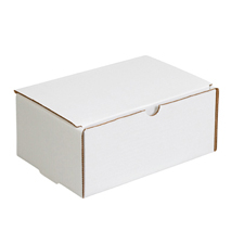 12x6x6 White Die Cut Mailer Boxes