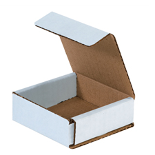 3x3x1 White Die Cut Mailer Boxes