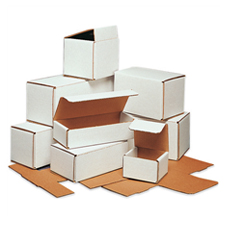 8x6x4 White Die Cut Mailer Boxes