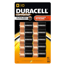 Duracell Coppertop Alkaline D Batteries