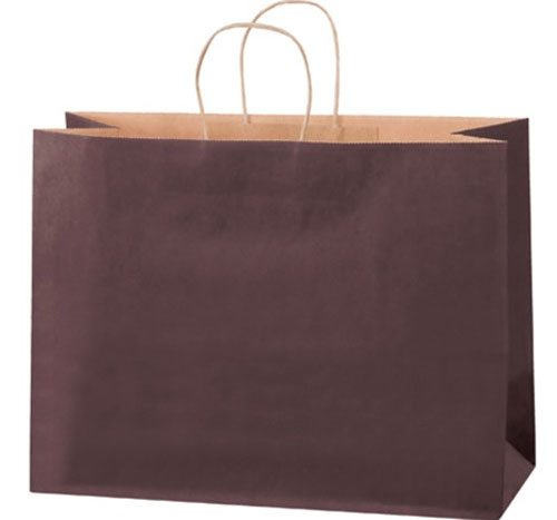 16x6x12 Brown Tinted Shopping Bags
