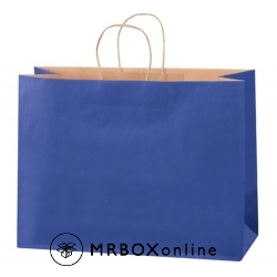 16x6x12 Parade Blue Tinted Shopping Bags