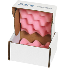 8x8x2.75 Anti Static Foam Lined Shipper Boxes