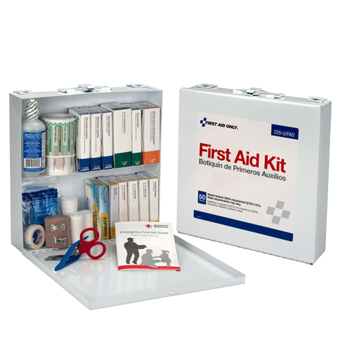 First Aid Station for 50 People 196 Pieces OSHA Compliant