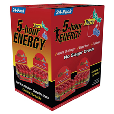 Free Gift:5-Hour Energy Drink free with a $625 order