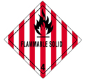 "Flammable Solid Labels 4""x4\"""