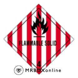 Flammable Solid Labels 4x4