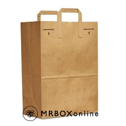 12x7x17 Flat Handle Brown Shopping Bag
