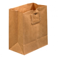 12x7x14 Flat Handle Grocery Bags