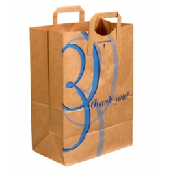 12x7x17 Thank You Flat Handle Grocery Bags